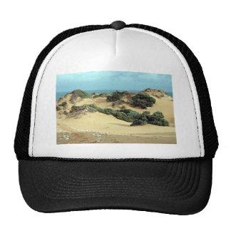 Dunas de arena a lo largo de la costa gorra