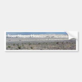 Dunas de arena de Death Valley del desierto Etiqueta De Parachoque