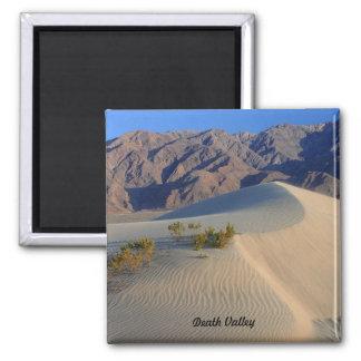Dunas de arena de Death Valley Imán Cuadrado