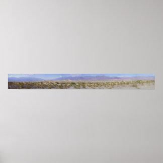 Dunas de arena de Death Valley Poster