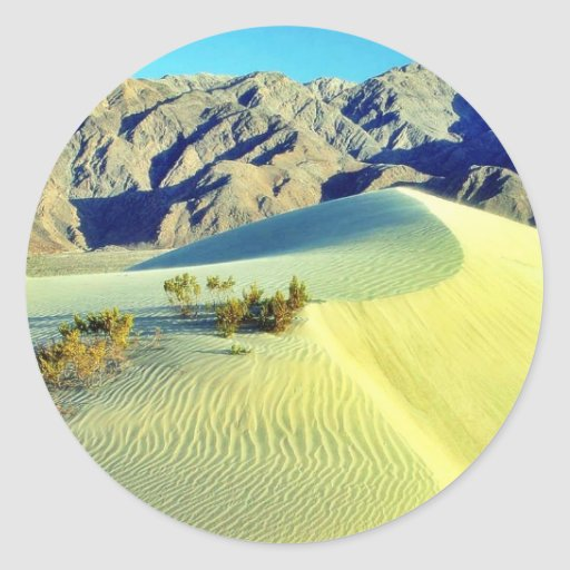 Dunas de arena de Death Valley Pegatina Redonda