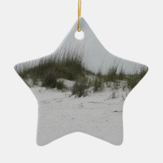 Dunas de arena de Destin la Florida Adorno Navideño De Cerámica En Forma De Estrella