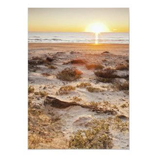 """Dunas de arena de la playa de Malaquite Invitación 5"""" X 7"""""""