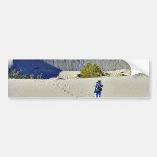 Dunas de arena de los desiertos 4 pegatina de parachoque