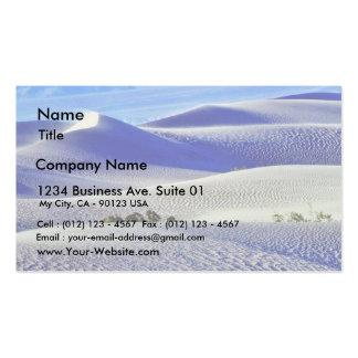 Dunas de arena de los desiertos 5 tarjetas de visita