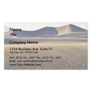Dunas de arena de los desiertos tarjetas de visita