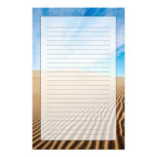 Dunas de arena de los planos del Mesquite Papelería De Diseño
