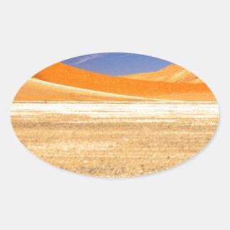 Dunas de arena de Namibia Pegatina Ovalada