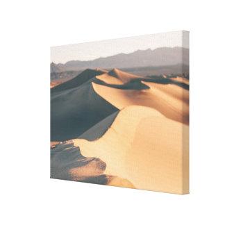 Dunas de arena del Mesquite en Death Valley Lona Estirada Galerías