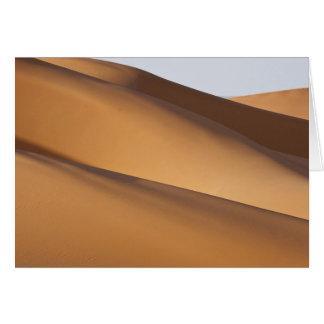 Dunas de arena, desierto del Sáhara, Marruecos 2 Tarjeta De Felicitación