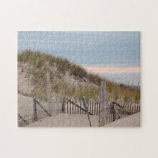 Dunas de arena en el punto de la raza, Cape Cod Puzzles Con Fotos