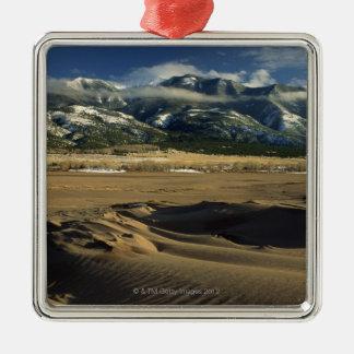 Dunas de arena en las grandes dunas de arena adorno navideño cuadrado de metal