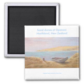Dunas de arena en Opononi, tierra del norte, Nueva Imán Cuadrado