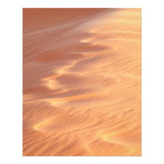 Dunas de arena esculpidas viento cojinete