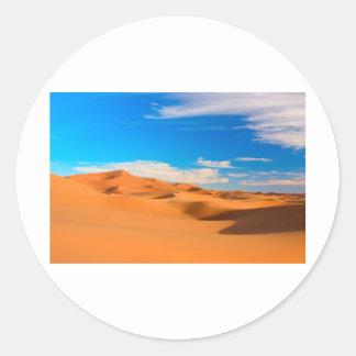 Dunas de arena pegatina redonda