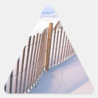 dunas de arena pegatina triangular
