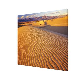 Dunas de arena planas del Mesquite en Death Valley Impresión En Tela