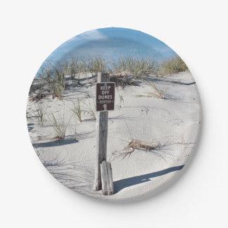 Dunas de arena platos de papel
