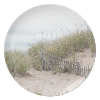 Dunas de arena y cerca de la playa plato de comida