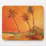 Dunas de la playa de la puesta del sol de la palme alfombrilla de raton