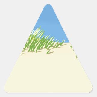 Dunas de la playa pegatina triangular