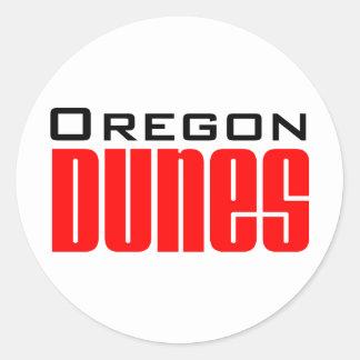 dunas de Oregon Pegatina Redonda