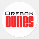 dunas de Oregon Pegatinas Redondas