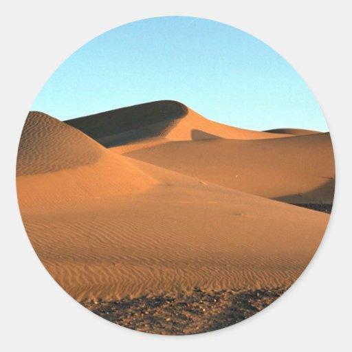 Dunas de Sáhara septentrional, Tinfou Pegatina Redonda