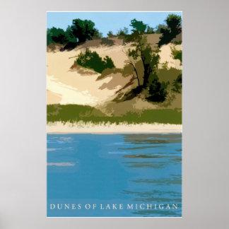 Dunas del lago Michigan Póster