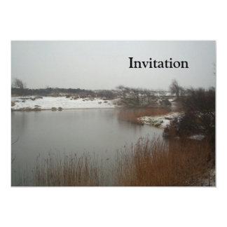 """Dunas holandesas en invierno invitación 5"""" x 7"""""""
