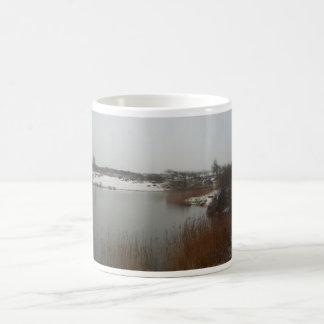 Dunas holandesas en invierno tazas de café