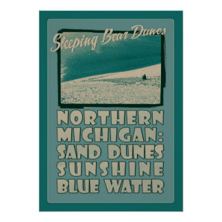 Dunas Michigan septentrional del oso el dormir Póster
