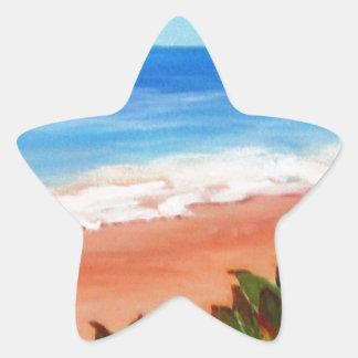 Dunas Pegatina En Forma De Estrella