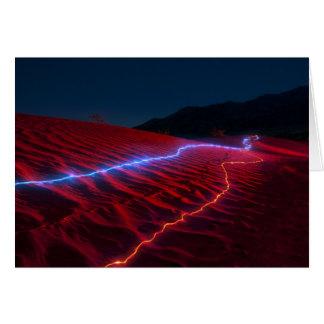 Dunas rojas 6945 de Death Valley Tarjetón