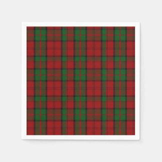 Dunbar Clan Tartan Plaid Paper Napkins