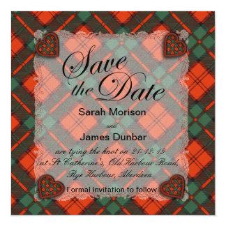 Dunbar Scottish clan tartan - Plaid Card