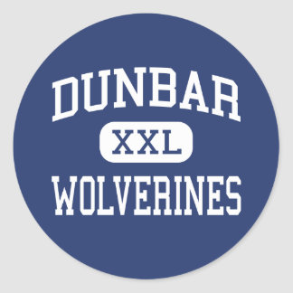 Dunbar - Wolverines - High School - Dayton Ohio Classic Round Sticker