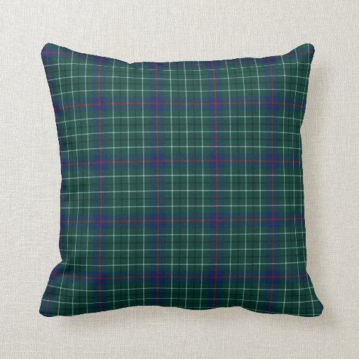 duncan clan dark green and blue tartan throw pillow zazzle. Black Bedroom Furniture Sets. Home Design Ideas