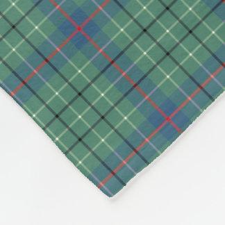 Duncan Clan Light Green and Blue Ancient Tartan Fleece Blanket