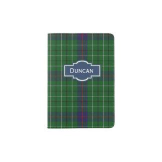 Duncan Clan Plaid Personalized Passport Holder