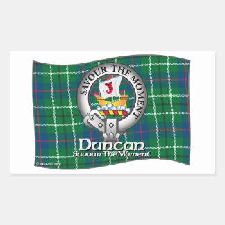 Duncan Clan Rectangular Sticker
