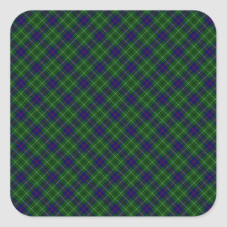 Duncan Clan Tartan Designed Print Square Sticker