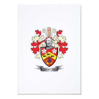Duncan Family Crest Coat of Arms Card