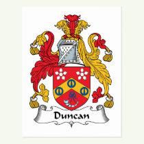 Duncan Family Crest Postcard