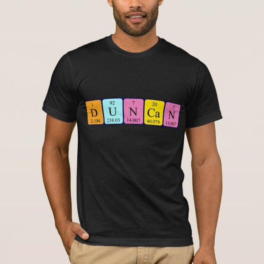 Duncan periodic table name shirt