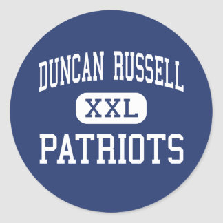 Duncan Russell - Patriots - Continuation - Tracy Stickers