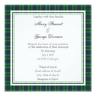 Duncan Scottish Wedding Square Invitation