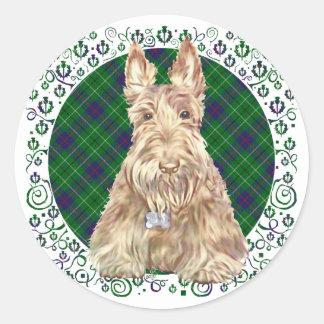 Duncan Tartan Scottie Classic Round Sticker