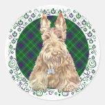Duncan Tartan Scottie Stickers