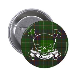 Duncan Tartan Skull Button